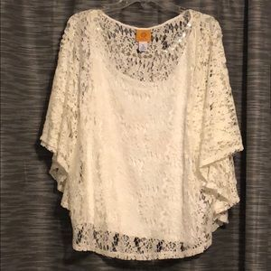 NWOT Ruby rd lace top with camisole. Size xl